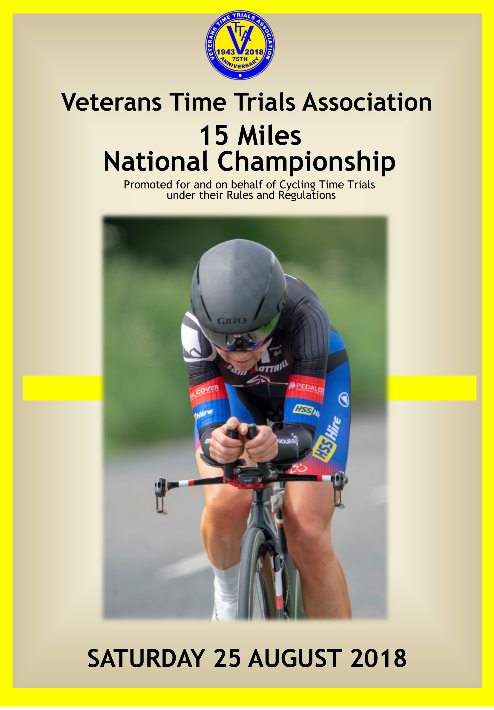 National 15 Championship - Saturday 25th August